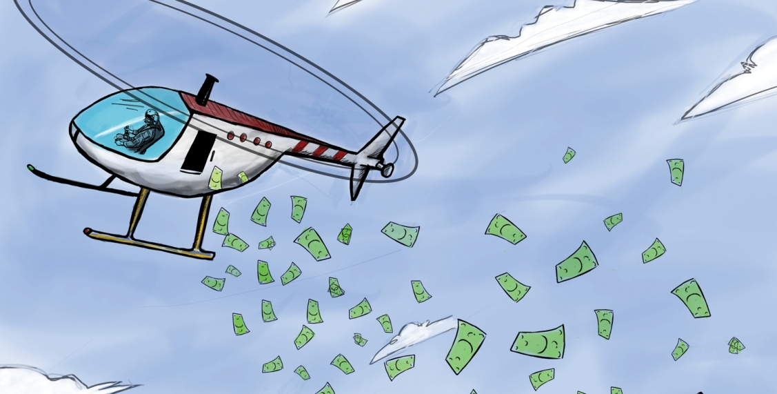 helicopter money soldi